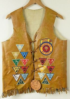 YMCA Indian Guides Tempe Nation Vest with 17 patches
