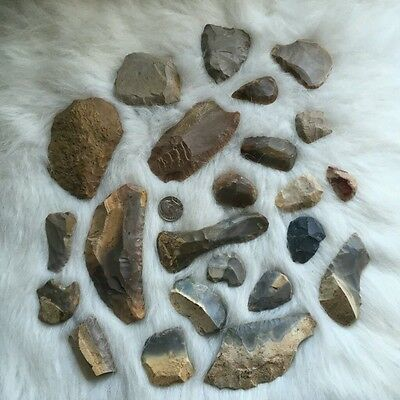 Arrowhead Collection - 20+ Uniface Scrapers, Gravers, & Spokeshaves