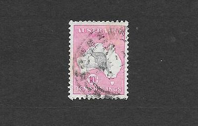"""1917 GOOD FIND """" 10/- ROO """" 3rd WM ~ { VERY SMALL CREASE } ~ USED BARGAIN @ $110"""