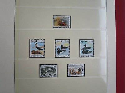 Aland / Faroe Islands Collection Mnh In Lindner Album