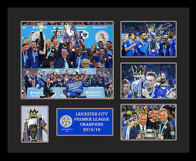 Leicester City Champions 15/16 Mahrez Vardy Signed Limited Edition Memorabilia