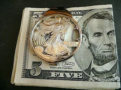 "===  Moneyclip  "" Silver Eagle "" -  Walking Liberty ==="