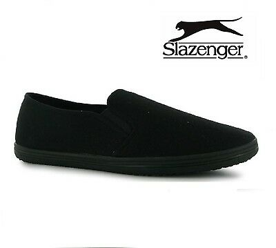 Slazenger Slip On Canvas Tai-Chi / Kung Fu Shoes Espadrilles Plimsolls Size 7-12