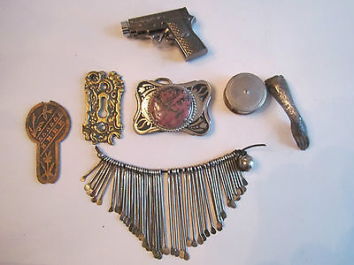 Vintage Large Lot Metal Collectibles And Things  - See Pics - Tub Bb