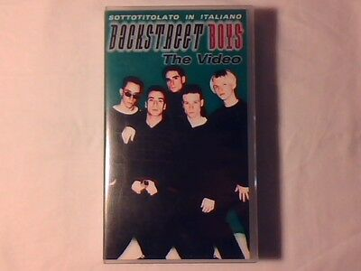 BACKSTREET BOYS The video vhs ITALY ITALIAN SUBTITLES COME NUOVA LIKE NEW!!!
