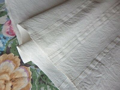 Antique 19thc Homespun Linen Large Bath Towel