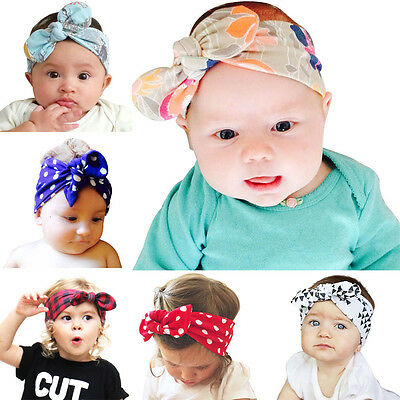 6PCS/lot Cute Baby Girl Hairband kids Headwear Rabbit Ear Headband Headwear
