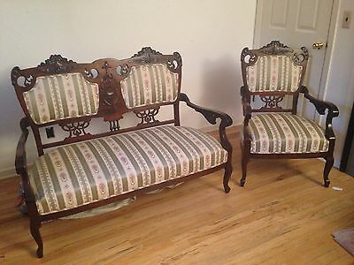 Beautiful Vintage/Antique Setee and  Arm Chair