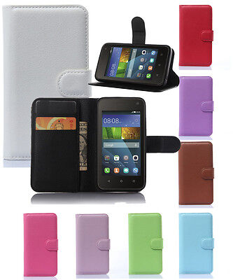 Magnetic Flip Cover Stand Wallet Leather Case Skin For Huawei Ascend Y Series