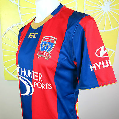 NEWCASTLE JETS home   JERSEY    MENS SIZE LARGE