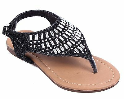 2391457472ae NAVY CUTE STRAPPY Buckle Kids Girls Sandals Flats Youth Casual Shoes ...