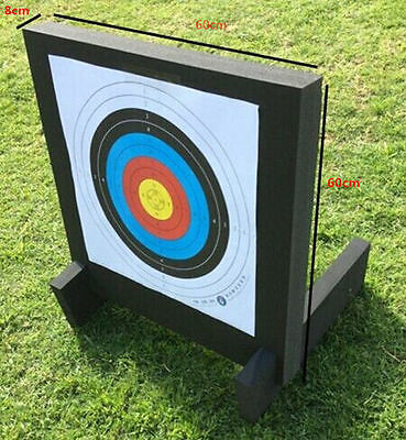 "Archery Target XPE High Density Foam + 12 X 32"" Carbon Arrows Package"