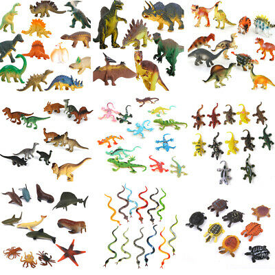 Lot Assorted Plastic Zoo Figure Jungle Wild Animals Kids Toys Party Bag Favour