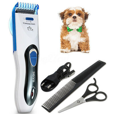 Electric Grooming Animal Pet Dog Puppy Cat Hair Trimmer Razor Shaver Clipper Set