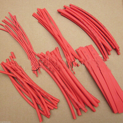 """6"""" Wire Wrap Assortment Set Red Heat Shrinkable Shrink Tube Sleeves A 60pcs"""