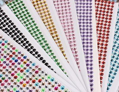 DZ832 DIY Phone Car PC Decor Self Adhesive Crystal Rhinestone Bling Sticker 3MM#