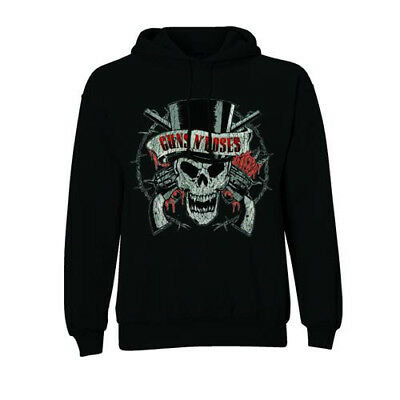 Guns N' Roses 'Distressed Skull' Pull Over Hoodie - NEW & OFFICIAL!