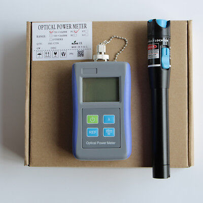 -70~+10 dB Optical Power Meter 10mW Visual Fault Locator Cable Tester FTTH Tool