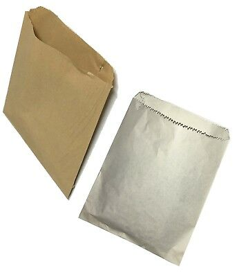 White Brown Kraft / Sulphite Strung Paper Bags Food Sandwich Grocery Bag