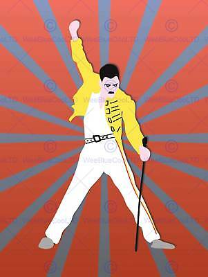 Freddy Mercury Queen Illustration Picture Art Print Poster Mp5715B
