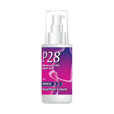 P28 Express Period Pain Cream Stop Menstrual Muscle Cramps Back Tummy Ache