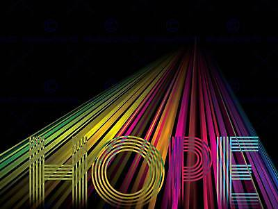 Hope Trippy Psychedelic Quote Motivation Typography Art Poster Print Qu078