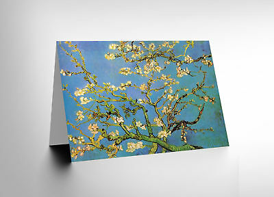 Vincent Van Gogh Branches With Almond Blossom 1890 Greetings Card Cl1177