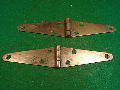 "Pair Of 4"" Shed /barn Door Style Strap Hinges - Rustic Steel (5459)"