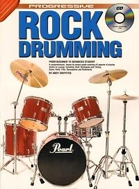 PROGRESSIVE ROCK DRUMMING Book & CD Griffiths