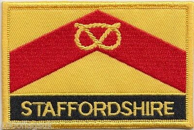Staffordshire County Flag Embroidered Patch Badge - Sew or Iron on