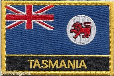 Australia Tasmania State Flag Embroidered Patch Badge - Sew or Iron on