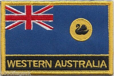 Western Australia State Flag Embroidered Patch Badge - Sew or Iron on