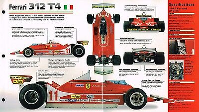 F1 FORMULA 1 F ONE RACE CAR / RACING BROCHURES Collection: MP4/4,Lotus 78,312 T4