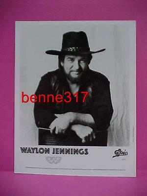Original 1990 Promo Publicity Photo WAYLON JENNINGS Epic Records
