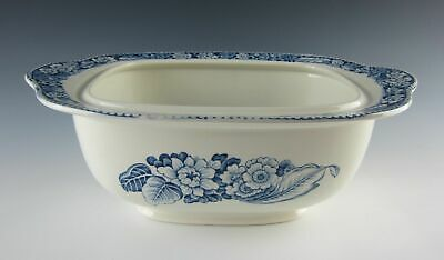 """Wood & Sons China WOODLAND-BLUE 13"""" Rectangular Covered Vegetable Bowl (No Lid)"""