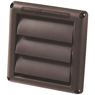 Deflecto HS6B 6 inch Vent Brown Louvered Dryer Vent Cover