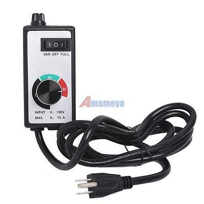 Router Speed Control Dial Variable Voltage Brushed Motor 110V 15A Universal