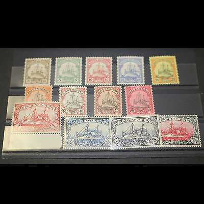 1901 German New Guinea Kaiser's Yacht Set of 13 Mint Unhinged Stamps