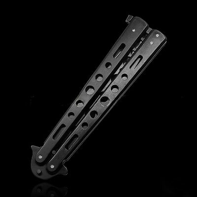 Hot Stainless Steel Practice Butterfly Balisong Trainer Training Knife Dull Tool