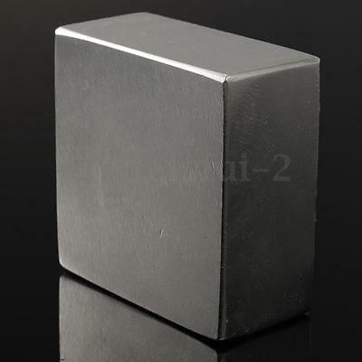 N52 Super Strong 50X50X25mm Block Permanent Rare Earth Magnet  Industrial Usage