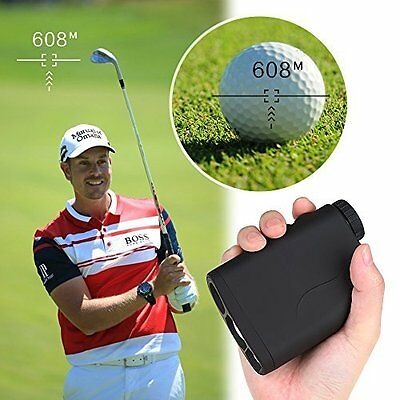 600m Golf Laser Range Finder Telemetro Distance Meter Speed Measurer Scope