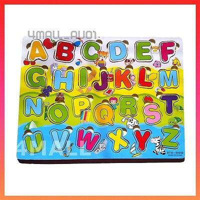 Kids Boys Girls Educational Wooden Letters Alphabet Puzzle Jigsaw Toy Gift