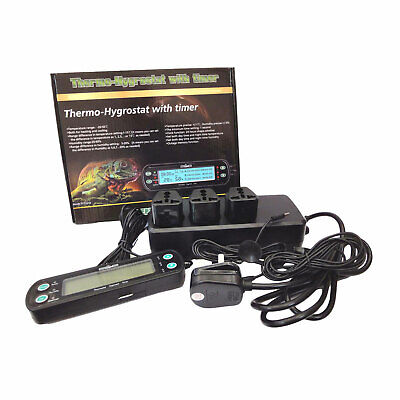 Reptile Aquatic Digital Day / Night Thermostat + Humidistat with Timer
