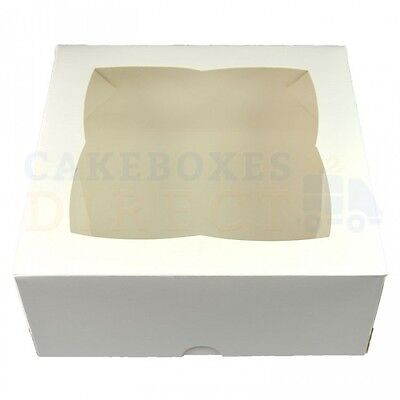 7X7X3 Inch Window Cake Boxes Choose Your Quantity And Colour