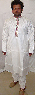 white  Exclusive Designer sherwani  kurta salwar kameez 2 pcs all sizes