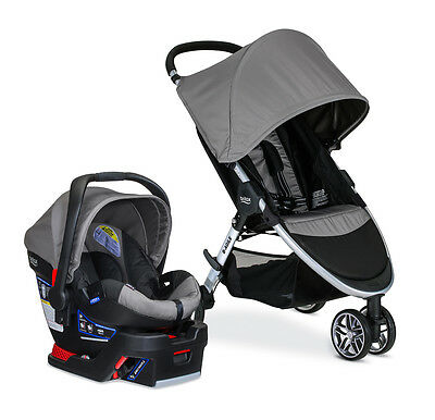 Britax B-Agile 3 Stroller & B-Safe 35 Car Seat Travel System Steel NEW!