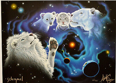 Wm Schimmel A Mother's Kiss, A Father's Touch Giclee Siegfried & Roy Signed Coa