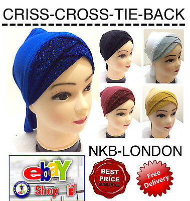 Muslim Kids Girls Ladies Readymade Hijab Under Cap Ninja Hijab Criss Cross Caps