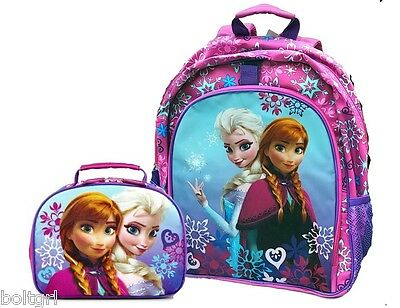 Disney Frozen Anna Elsa Backpack Lunch Tote Bag Box Set FREE PRIORITY SHIPPING
