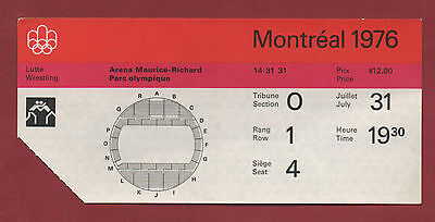Orig.ticket   Olympic Games MONTREAL 1976 - WRESTLING 31.07. / 10 FINAL´s ! RARE